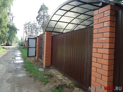... ворота, навес для авто, забор